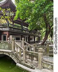 garden with pond - garden with a pond in the White Emperor...