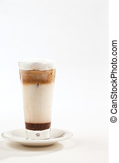 Ice coffee is a cool summer drink - A chilled or iced coffee...