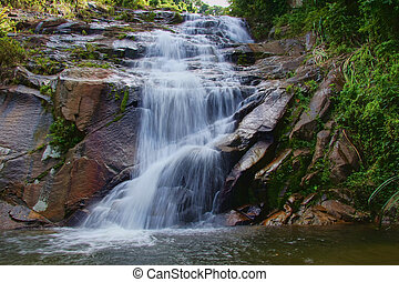 waterfall and rocks, Thailand
