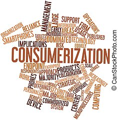Word cloud for Consumerization - Abstract word cloud for...