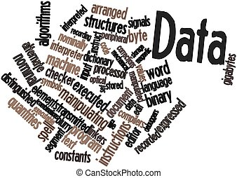 Data - Abstract word cloud for Data with related tags and...