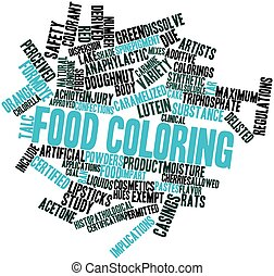 Food coloring - Abstract word cloud for Food coloring with...