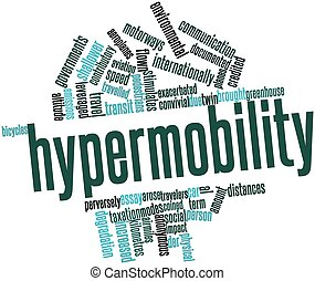 Hypermobility - Abstract word cloud for Hypermobility with...