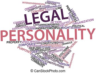 Word cloud for Legal personality - Abstract word cloud for...