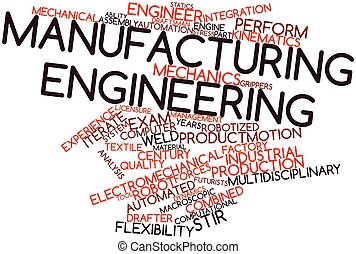 Manufacturing engineering - Abstract word cloud for...