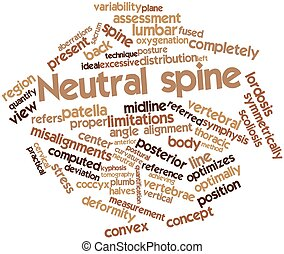 Neutral spine - Abstract word cloud for Neutral spine with...