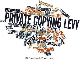 Word cloud for Private copying levy - Abstract word cloud...