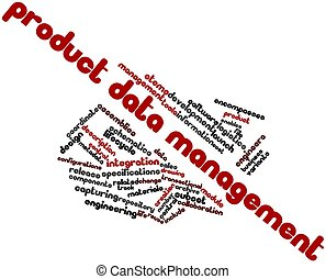 Word cloud for Product data management - Abstract word cloud...