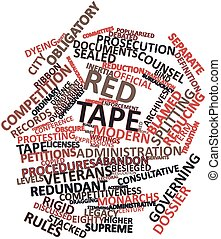 Word cloud for Red tape - Abstract word cloud for Red tape...
