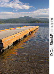 A dock on the lake.