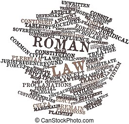 Word cloud for Roman law - Abstract word cloud for Roman law...