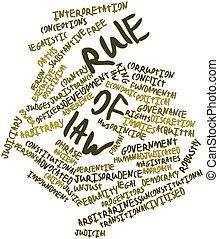 Word cloud for Rule of law - Abstract word cloud for Rule of...