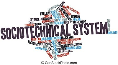 Sociotechnical system - Abstract word cloud for...