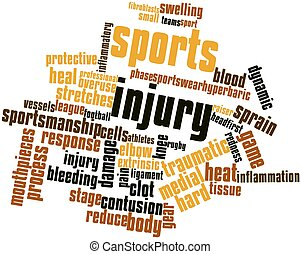 Sports injury - Abstract word cloud for Sports injury with...