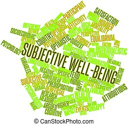 Subjective well-being - Abstract word cloud for Subjective...