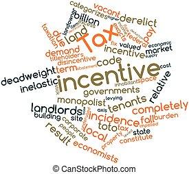palabra, nube, impuesto, incentivo