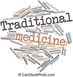 Traditional medicine - Abstract word cloud for Traditional...