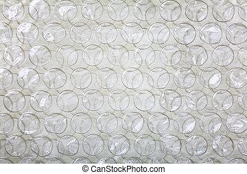 Bubble foil - Close up of a bubble wrap plastic foil as a...