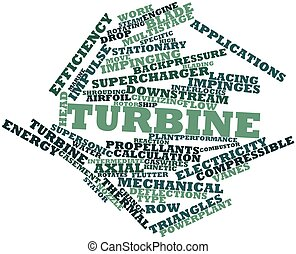 Word cloud for Turbine - Abstract word cloud for Turbine...