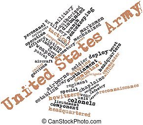 United States Army - Abstract word cloud for United States...