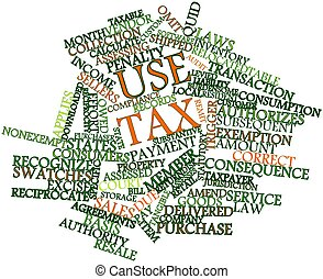 Word cloud for Use tax - Abstract word cloud for Use tax...