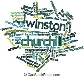 Word cloud for Winston Churchill - Abstract word cloud for...
