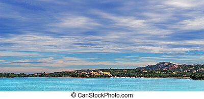 Gallura sea and clouds - seascape of Gallura sea and clouds