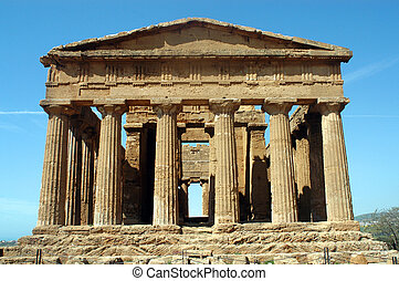 The Temple of Concord - Agrigento - Sicily - The temple of...
