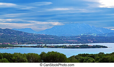clouds in Gallura - Gallura coastline covered by an overcast...