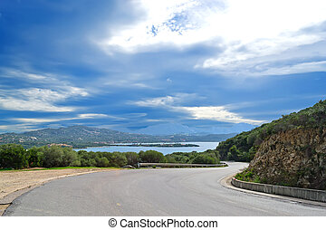 Gallura winding road - winding road in Gallura, Sardinia