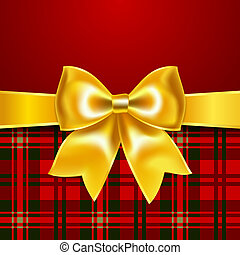 Festive background with ribbon bow
