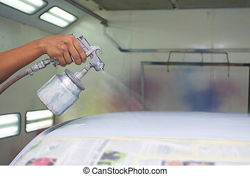 car painting with prime colour