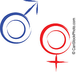 sex symbols  - male and female sex symbols vector
