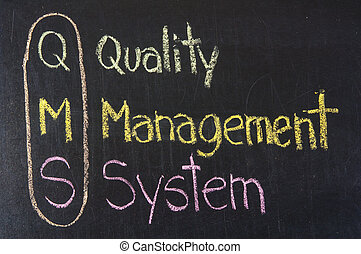QMS acronym Quality Management System,color chalk...