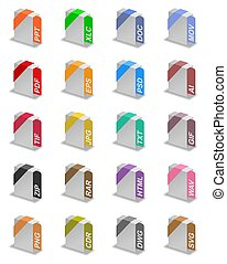 File formats - An illustration of different file formats