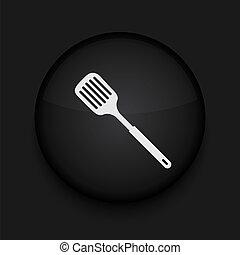vettore, scanalato, cucina, cucchiaio, icona, Eps10, facile,...