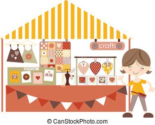 Crafts-, 市場, /Craft, 博覧会, Sta