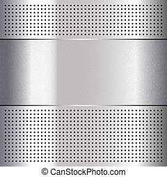 Metallic perforated chromium steel sheet, 10eps