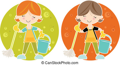 The Happy Cleaner - A cute, fun colourful...