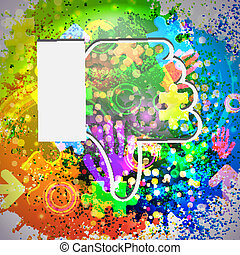 Vector icon Colorful abstract background Eps10