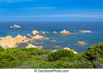Gallura coastline - detail of the Gallura coastline with...
