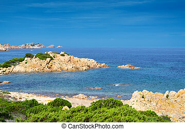 Gallura shoreline - detail of the Gallura coastline with...