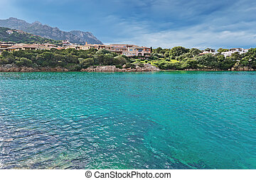 Porto Cervo water - view of Porto Cervo emerald sea