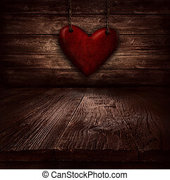 Valentines design - Heart in chains. Illustration with heart...