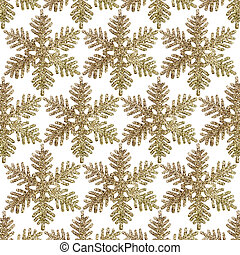 Gold Glitter Snowflake background