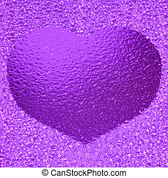 colorful crystal violet hear bachground