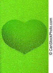 frozen gemerald heart - frozen emerald green heart with...