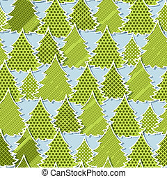 Eps 10 Christmas seamless pattern in the style of application.