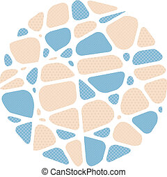 Abstract mosaic background in the shape of a circle