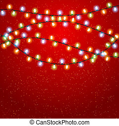Eps 10 Christmas background with luminous garland